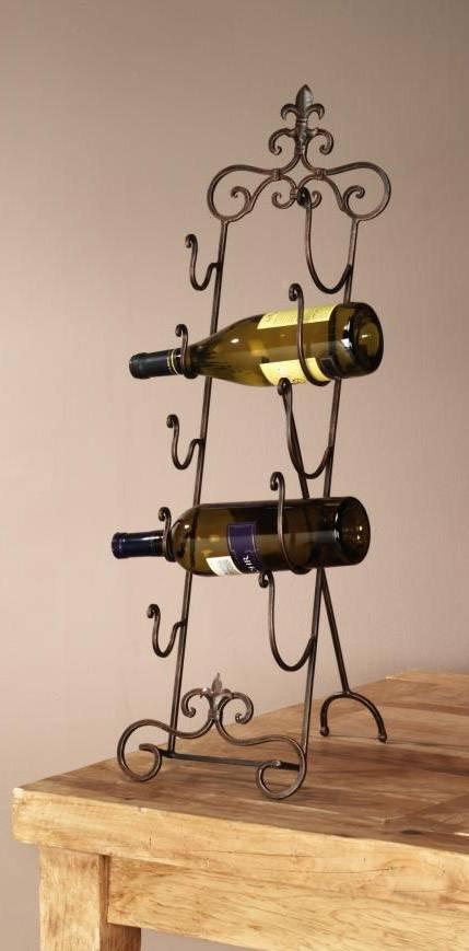 Wine Rack Fleur De Lis Table Top