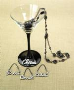 Word Wine Charms in Pewter - Set of 4