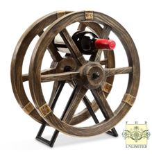 Wine Racks - Pair of Wagon Wheel Design Racks