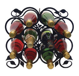 Wine Rack - 10 Bottle - Leaf Design